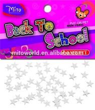 MTLP-BS030 silver star diy sequins of 11x11mm PVC confetti