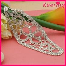 Bridal crystal & pearl sash rhinestone embellished wedding belt WRE-113