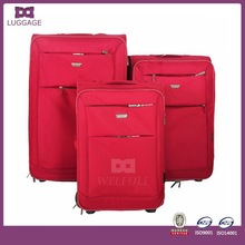 Red Ripstop China Wholesale Royal Polo Luggage Trolley Case