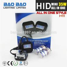 Hot-selling HID MINI ALL IN ONE ballast, xenon super vision hid conversion kit, d3s osram 6000k hid xenon bulb AC 35w