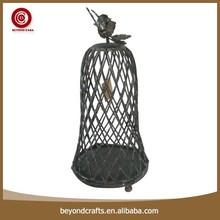Unique shape design antique round metal bird cage