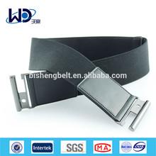PU Trimming Woven Elastic High Waist Belt