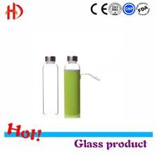 Transparent Beverage Bottle Colorful Water Bottles Portable Unbreakable Sports Drink Cups Sealed Leakproof Kettle Glass