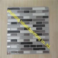 Clear flexible epoxy resin doming vinyl sticker
