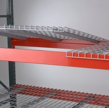 wire mesh decking with medium duty racking