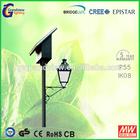 high brightness ce rohs 60w 12v outdoor led solar garden lamp