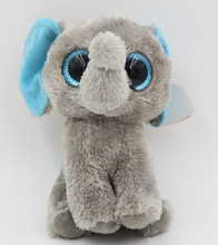 Wholesale New Arrival Soft 15cm Plush Elephant Baby Toy Big Eyes Animal Stuffed Plush Toys