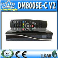 dvb-c receiver set top box dvb800 hd se wifi Dm 800hd se v2 wifi with 512 sdram and 1024 flash black and white