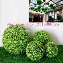 q120932 anti uv verde outdoor sfera artificiale arte topiaria palla di legno di bosso