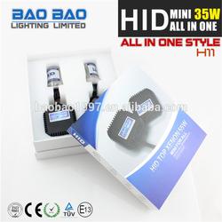 Super bright Hilow hid xenon headlight, car hid, hid electronic MINI ALL IN ONE ballast MINI ALL IN ONE H11 AC 35W