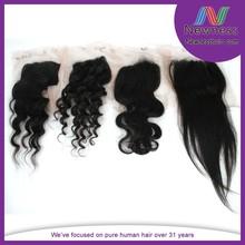 5A 100% brazilian hair modern brazilian hair silk base lace closure