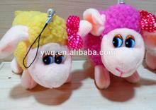 Key ring 10 cm toy sheep ,soft toys cuddly sheep ,sheep lamb toys