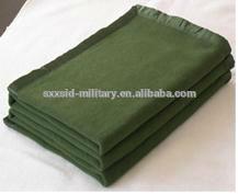 ISO cheap wool acrylic blanket military army wool acrylic blanket