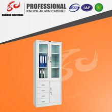 Combined half glass door filing cabinet display cabinet
