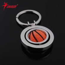 Rotating color basketball, golf soccer keychain, sports novelty gifts key chain