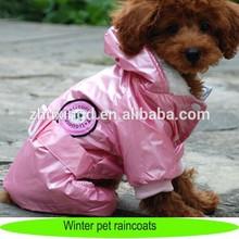 Pet dog raincoats, heated dog winter rain coat waterproof, wholesale dog winter raincoats