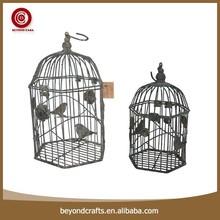 Antirust garden decorative iron hanging bird cage