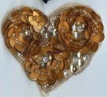 Heart sequin/gem/beads patch