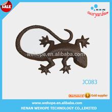 Hot selling fashion design geckos metal art wall art decorative