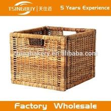 fábrica por atacado alta qualidade deep cesta de vime armazenamento bandeja pão cesta de frutas de queijo