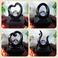 decoration of house interior black water fountains w/rolling ball