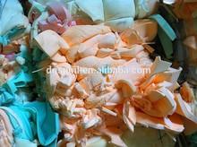 High density pu foam scrap without fabric and hard skin