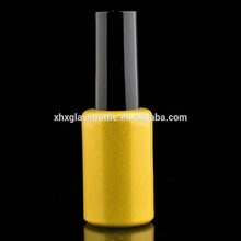 9ml 10ml 12ml 15ml cylinder round shape gold glitter color gel polish lacquer bottle for nail art soak off gel bottle with cap