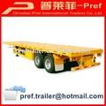 Pierres- type remorque et nouvelle marque 2 essieux 20ft conteneur semi- trailer pour la vente