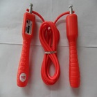 digital count jump rope with counter rubber/steel wire fitness