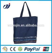 Promotional Black Zip Embroidered Bag/black zip lock bag/embroidered laptop bag
