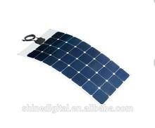 Semi-Flexible 100 Watt Solar Panel 12V High Efficiency Sunpower, Marine Rated