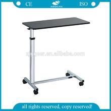 AG-OBT014 Steel powder coated frame hospital ISO&CE hospital bedside tray table