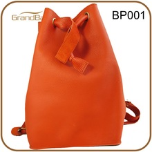 2015 new fashion genuine pebble leather women backpack