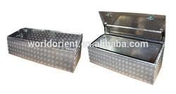 Durable aluminum tool box for trucks