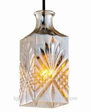 botton cut glass ceiling light