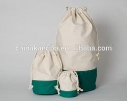 Custom promotional wholesale cotton fabric drawstring bag
