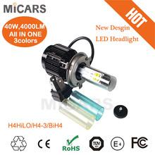 2014 new auto parts 40w 4000lumen LED headlight H4-3 H13-3 9004-3 9007-3