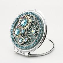 best lady cosmetics rhinestone wall mirrors diamond compact mirror