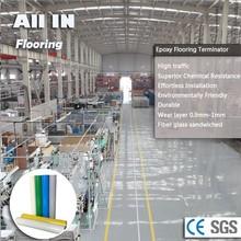 Seamless gloss glass Fiber Epoxy flooring garage floor resurfacing
