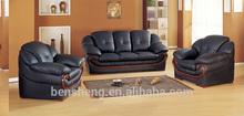 Foshan Shunde furniture european style Leather Sofa lounge suite B392