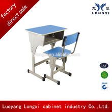 Attractive children study desk and chair set, school furniture,standard size of school chair