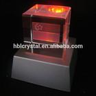 Fancy plastic light base crystal led glass 3d laser for home decoration