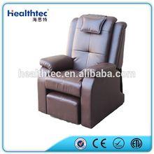 Old folding recliner sun lounger chair