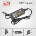 Venta al por mayor de alibaba express fuente de alimentación adaptador de 12v 5a adaptador de corriente, caja de plástico de alta calidad portátil adaptador de ca