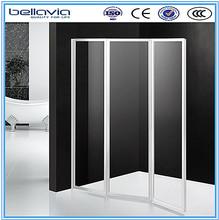 bathroom walk in tub shower combo folding glass shower 6593
