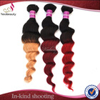 Neobeauty virgin human hair weaves afro wave colorful ombre hair weaves