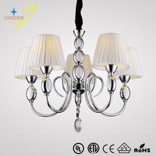GZ40222-5P European style lampshade energy saving hot sale crystal chandelier