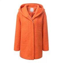 2014 autumn and winter new European style fashion wild orange loose hooded wool coat woolen coat 54