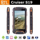 Cruiser S19 MTK 6582 1.2GHz dual camera 2950 mah outdoor waterproof shockproof mobile phone