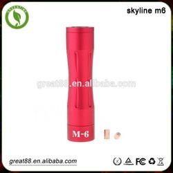 Chrismas promotion! Hot skyline m6 18650 Mechanical mod, wholesale vaporflask v2 clone mod